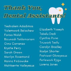 Thank you Dental Assistant
