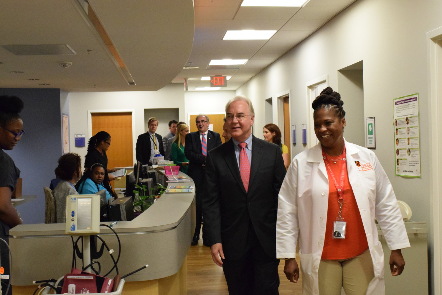 DHHS Secretary Price Visits Unity for National Health Center Week